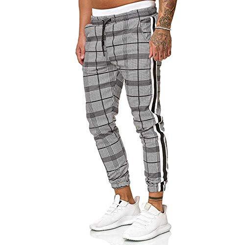 NOBRAND 2020 Nuevo Casual Plaid Tobillo Pantalones Hip Hop Jogger Pantalones de los Hombres Pantalones de Chándal Streetwear Hombre Pantalones