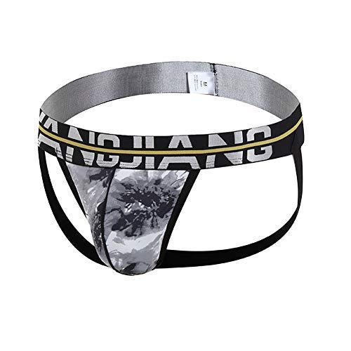 YXX Calzoncillos De Tanga Atractivos para Hombres Ropa Interior para Hombre Sexywear Transpirable Ropa Interior 2 pcs,Negro,XL