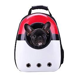 ER-JI Pet Bagbreathable Waterproof Space Capsule Pet Backpack Outdoor Travel Portable Cat Backpack