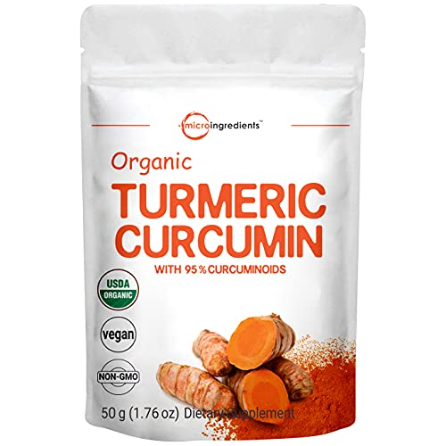 Organic Curcumin Powder (Natural Turmeric Extract and Turmeric Supplements)  Rich in Antioxidants & Immune Vitamin  Best Supplements for Joint & Immune System Support  50 Gram  Vegan Friendly.