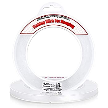 Clear Fishing Wire Acejoz 656FT Fishing Line Clear Invisible Hanging Wire Strong Nylon String Supports 40 Pounds for Balloon Garland Hanging Decorations.