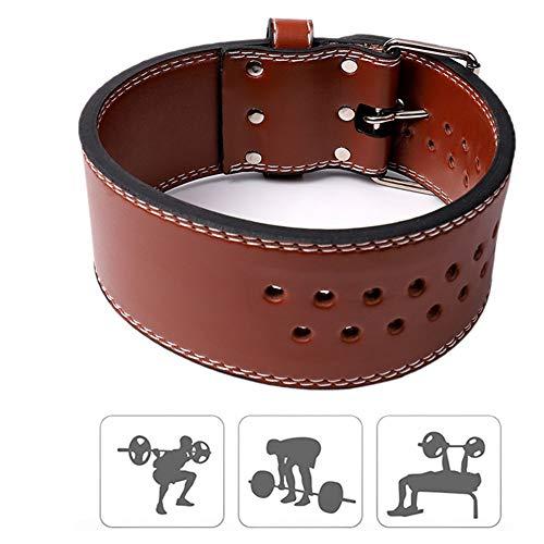 zhppac Cinturon Gym Cinturon Lastre Accesorios de Gimnasio para Hombres Peso cinturón de formación Cinturón de Gimnasio para Hombre Levantamiento de Pesas Brown,l