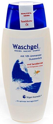 Rügen Kosmetik Waschgel mit 10% Ummanzer Stutenmilch und Sanddornöl aus biologischem Anbau 150ml