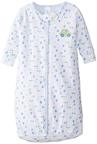 Spasilk Baby-Boys Newborn 100% Cotton Sleep Bag Sack, Green Car, O/S (18lbs)