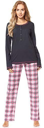 Merry Style Damen Schlafanzug MS10-211 (GraphitKarierrt, M)