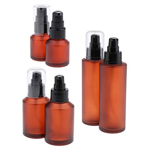 B Baosity 6pcs Vaporisateur Vide Pompe Bouteille En Verre Flacon de Lotions Liquide Parfum - 100ml / 60ml / 15ml