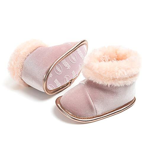 Morbido Infant Baby Boys Girls Booties Soft Shoes Ankle Boot Warm Winter Fur Lining Newborn Prewalker Snow Boots
