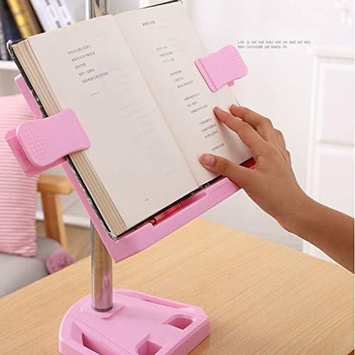 Soporte de libro de ángulo y ángulo ajustable, titular de la tableta de plástico con un libro de plástico con una sola mano, titular de documentos de artifact de lectura infantil / libro de libros de