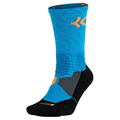 Nike Women's Hyper Elite KD Basketball Socks Small (Size 4-8) Blue, Orange