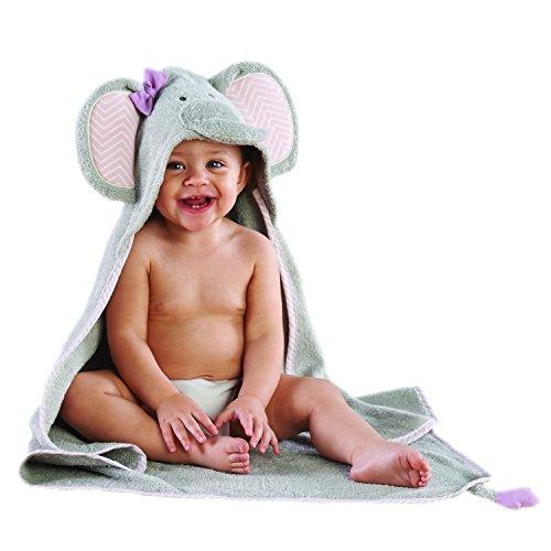 Baby Aspen Splish Splash Elephant Bath Hooded Spa Towel