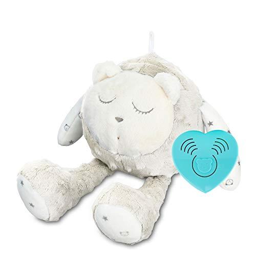 SZUMISIE (MyHummy) schlafendes Maskottchen mit Einschlafhilfe Schlaf Sensor und Nonstop Modus ECRU