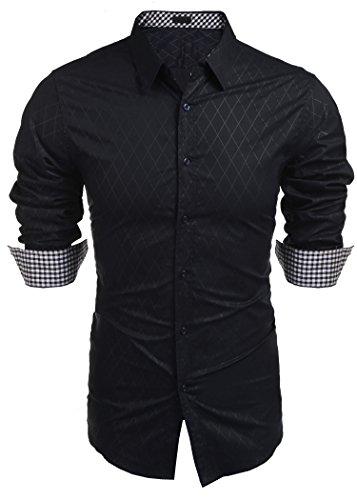 COOFANDY Hemd Herren Langarm buisness Hemd männer anzughemd Herren Freizeithemden Regular fit