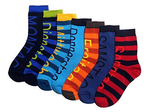 Herren Socke 'Wochentage' im 7er Set, Größe:39/42, Farbe:Mehrfarbig