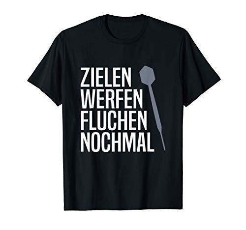 T-Shirt Darts - Dart Pfeil Witz Dartscheibe Dartpfeil Spruch T-Shirt