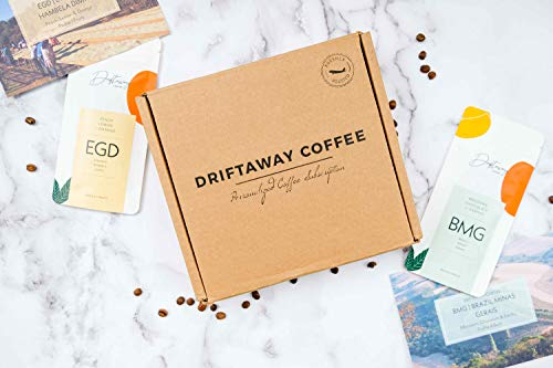 Driftaway Coffee - World Coffee Sampler, Whole Beans, Eco-friendly and Sustainable - 4 oz