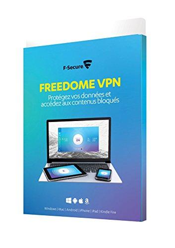 F-SECURE FREEDOME VPN - Confidentialité VPN pour smartphones, tablettes, PC et MAC, Kindle - 1 appareil / 1 an