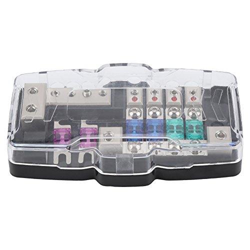 Keenso ANL Sicherungshalter, 4 Weg Auto Audio Stereo ANL Klinge Sicherungshalter Verteiler Blöcke 0 / 4GA Sicherungen Box Block 30A 60A