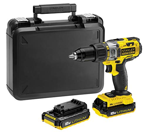 Stanley Fatmax Fmc625D2-Qw - Perceuse Visseuse À Percussion Sans Fil Lithium Ion - 51,4Nm  - 2 Batteries - Coffret  - Vitesse Variable - Multi-Matériaux - Mandrin Une Main - Revêtement Caoutchouc