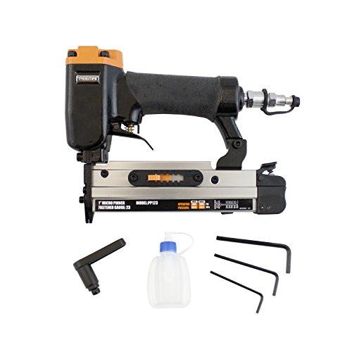 Freeman PP123 Pneumatic 23-Gauge 1' Micro Pinner Ergonomic and Lightweight Nail Gun with Safety Trigger and Pin...