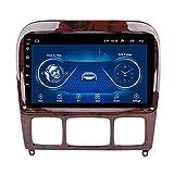 Pantalla Táctil De 9 Pulgadas Estéreo Para Automóvil Bluetooth Android Receptor De Radio Para Automóvil Autoradio Navegación GPS - Aplicable Para Mercedes Benz Clase S W220 1999-2007,8core-WIFI: 4+64G