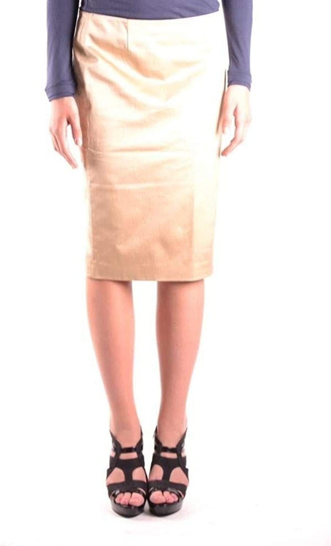 Iceberg Women's MCBI10497 Beige Cotton Skirt