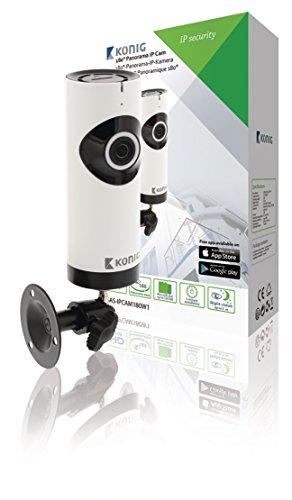 König SAS-IPCAM180W1 Telecamera di sicurezza IP Interno Nero, Bianco 1280 x 720Pixel - Telecamera di sicurezza (IPTelecamera di sicurezza Interno, 100 m, Nero, Bianco, Scrivania, 1280 x 720 Pixel)