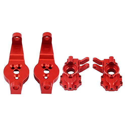 Dilwe RC Car Achsschenkel-Kit, 2 Stück Aluminiumlegierung C-Naben & Lenkungsträger für Traxxas TRX-4 RC Crawler Car Upgrade Teile( Rot)