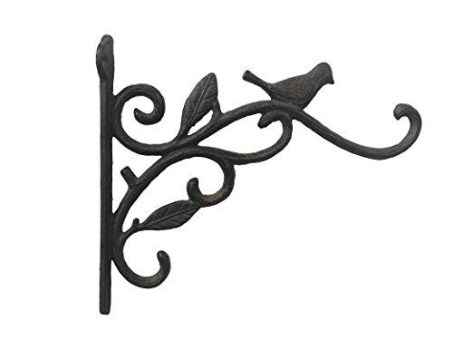 Comfy Hour Antique & Vintage Interior Decor Collection, Animal Edition Cast Iron Wall Mount Bracket, Hangers for Planter, Bird Feeder, Lanterns Wind Chimes, Outdoor Decoration- Bird