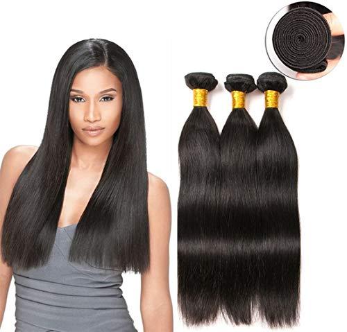 longs tissage bresilienne straight 3 paquets en lot meche naturelle 26 28 30 pouces 100% human hair tissage lisse 9a grade cheveux naturel 100g/bundles total 300g
