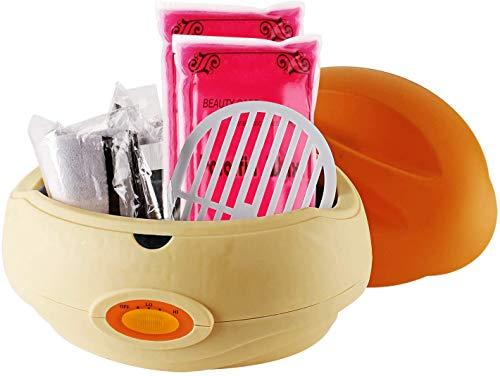 Forever Speed Calentador de parafina baño Cera de parafina y accesorios parafina Starter Juego de color Naranja