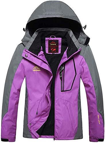 Hcxbb-10 vrouwen outdoor waterdichte jassen- ski suit-Single slijtvaste laag dunne sectie bergbeklimmen kleding geschikt voor wandelen skiën Trekking reizen Windbreaker bergbeklimmen