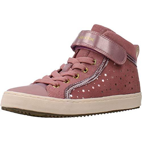 Geox Mädchen J Kalispera Girl I Hohe Sneaker, Pink (Antique Rose C8056), 39 EU