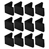 uxcell 50mm x 50mm Angle Iron Foot Pads L Shaped PVC Furniture Desk Leg Caps End Covers Floor Protector Black 12 Pcs