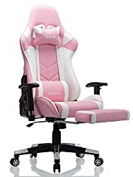 Best Pink Gaming Chair with Lumbar Massage
