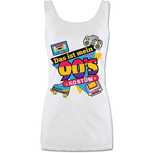 Shirtracer Karneval & Fasching - Das ist Mein 90er Jahre Kostüm - M - Weiß - 90er kostüm Damen - P72 - Tanktop für Damen und Frauen Tops
