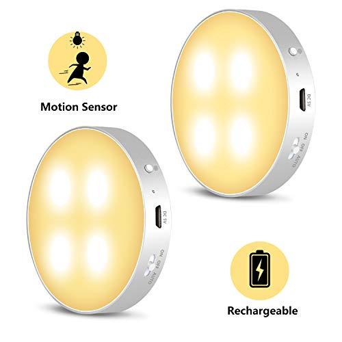 Luce Notturna LED con Sensore di Movimento - Daffodil LEC022 - Luce Notte LED con Tamponi Adesivi e Magnete con 3 Modalità Luci LED per Armadi/Cucina/Vetrina/Toletta/Corridoio/Scala/Mansarda