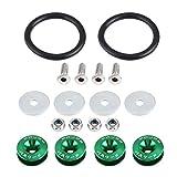 KIMISS Soporte de parachoques, arandela de parachoques de aleación de aluminio para coche, kit de vestir de bahía de motor de perno (verde)