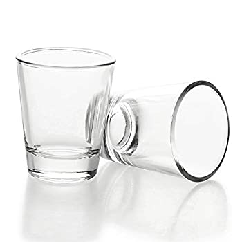 1.5 oz Shot Glasses Sets with Heavy Base Clear Shot Glass  2 Pack
