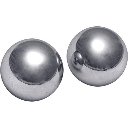 Noa Store Big XL Ben Wa 2 Inch Kegel Balls Steel Exercise Extreme Large Massive Huge Giant Grey Metal Heavy Weight Hard Geisha Yoni