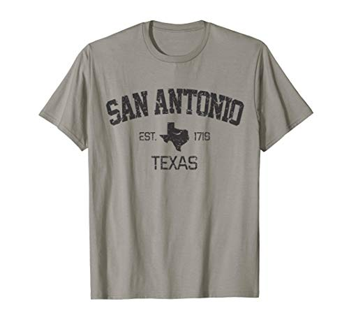 Vintage San Antonio Texas EST 1718 Souvenir Gift T-Shirt