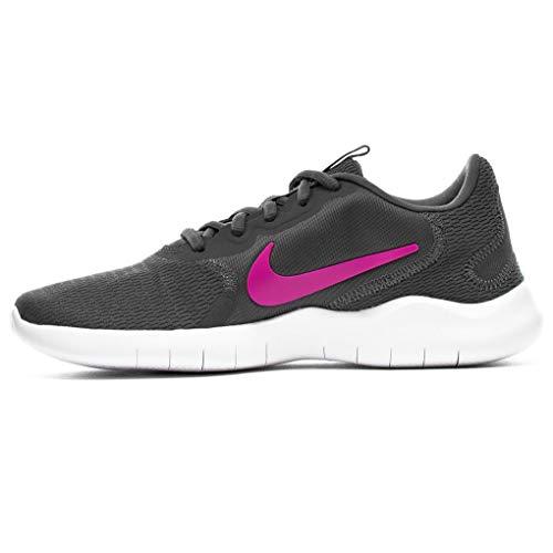 Nike Women's Flex Experience Run 9 Shoe, Iron Grey/Fire Pink-Smoke Grey, 8 4E US