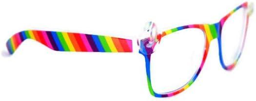 Rainbow Unicorn Blue Light Glasses: Anti Glare & UV Protection (Teens & Adults)