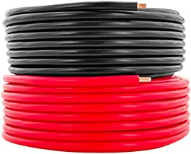 GS Power 14 AWG (True American Wire Gauge) CCA Copper Clad Aluminum Primary Wire 25 ft Red & 25 ft Black. For Car Audio Speaker Amplifier Remote Trailer Harness wiring (Also Available in 16 & 18 Ga)