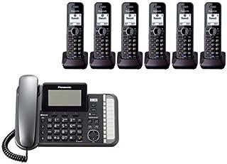 Panasonic KX-TG9582B + 4 KX-TGA950B Corded/Cordless Combination Telephone 2-Line DECT 6.0 System