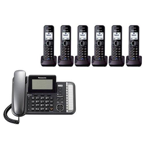 Panasonic KX-TG9582B + 4 KX-TGA950B Corded Cordless Combination Telephone 2-Line DECT 6.0 System