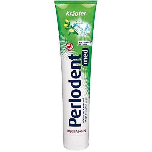 2 x Perlodent med KRÄUTER Zahncreme 125 ml. Stiftung Warentest: SEHR GUT. Schützt vor Karies und pflegt das Zahnfleisch.