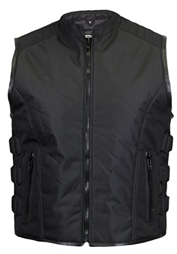 MDM Textil Bikerweste in schwarz (XL)