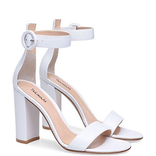 Lxlux Damenschuhe mit dicken High Heel Sandaletten Dinner Schuhe Hochzeit Schuhe Mode Schuhe,Weiß,46