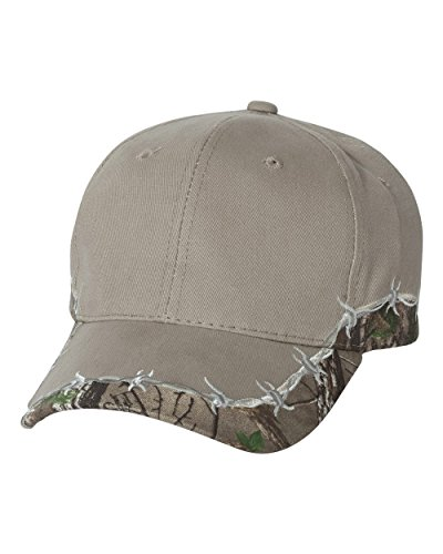 Outdoor Cap Barbed Wire Camo Cap. BRB605 - One Size - Khaki / Realtree Xtra Green