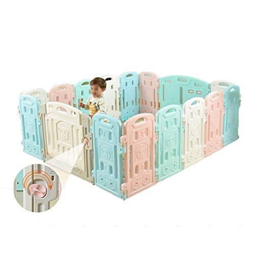 Amazing Deal Playard Plastic Color Panel Baby Playpen, Creative Large Children's Fence Play Fence, C...